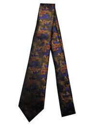 $enCountryForm.capitalKeyWord Australia - Classical 100% JACQUARD WOVEN HANDMADE Mens Gold Brown Blue Floral Men silk Tie Necktie M57