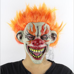 $enCountryForm.capitalKeyWord NZ - 2018 Halloween Mask Scary Clown Latex Full Face Mask Big Mouth Red Hair Nose Cosplay Horror masquerade mask Ghost Party