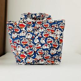 $enCountryForm.capitalKeyWord Australia - Doraemon Lunch Bag Cartoon Cute Bags Canvas Picnic Travel Storage Bag Fashion Lunch Bags for Women Girls Ladies Kids