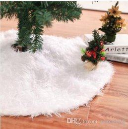 Christmas Ornament Stands NZ - 2019 Wholesales 78 90 122CM White Christmas Tree Skirt Stand Apron Ornaments Party Home Decor