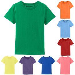 $enCountryForm.capitalKeyWord Australia - Kids Boys Girls Plain Tshirt Baby Summer T Shirt Infant Solid T-shirt Toddler Blank Tops Children Heavy Cotton Tee Shirt