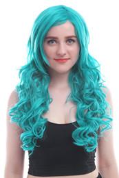 China USA Ship Sailor Moon Neptune Kaiou Michiru Green Long Wavy Cosplay Full Wig cheap full moon cosplay suppliers