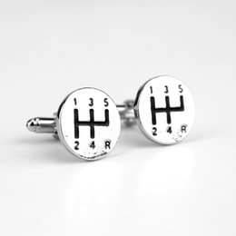 $enCountryForm.capitalKeyWord Australia - Car Gear Stick Top Cufflinks Silver Shift Lever Alloy Cufflink Male French Shirt Accessories Cuff button For Men's Jewelry