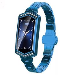 Chain Wrist Watches For Women Australia - J1 B78 women smart bracelet physiological cycle heart rate sports fashion watch chain