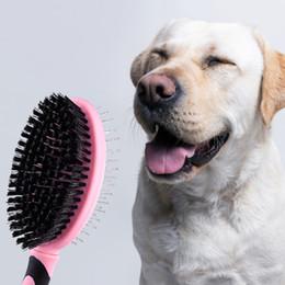 $enCountryForm.capitalKeyWord Australia - Pet Double-sided Brush Grooming Tools Massage Fur Cleaning Comb Puppy Hair Brush Daily Steel-needle Labrador Golden Retriever J190717