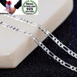 $enCountryForm.capitalKeyWord NZ - OMHXZJ Wholesale Personality Fashion Unisex Party Gift 2MM Figaro Chain 925 Sterling Silver 18KT Gold Chain Necklace NC180
