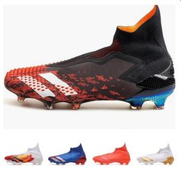 Predator Mutator 20+ FG Soccer Shoes PP Paul Pogba Mens Slip-On Football Shoes 20+x Cleats Boots High Ankle Cheap yakuda Training Sneakers on Sale