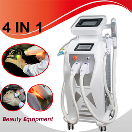 Wholesale 2018 stationary multifunction ipl laser rf face lift tattoo hair removal machine elight opt shr rf nd yag laser ipl