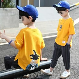$enCountryForm.capitalKeyWord Australia - Children's Suit Summer Suit 2019 New Kids'Short Sleeve Sports Summer Two Kinds of Korean Chaozhou Boys' Clothes Children's Suit Printed Cart