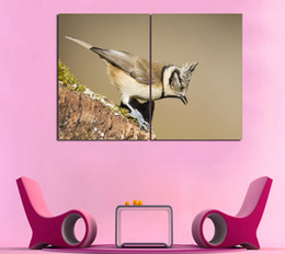 $enCountryForm.capitalKeyWord Australia - Cute Bird Prints Oil Painting On Canvas Art Bedroom Decor For Home Decoration Picture(No Frame) 2 Panels Print Poster