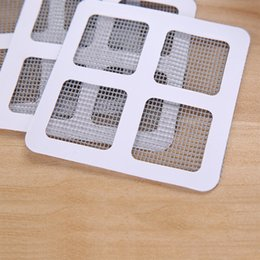 wholesale fix screen NZ - 3pcs Fix Net Window Home Adhesive Anti Mosquito Fly Bug Insect Repair Screen Wall Patch Stickers Mesh Window Door Screen White