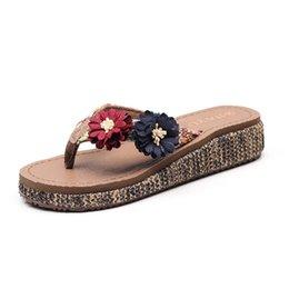 $enCountryForm.capitalKeyWord UK - Beach shoes slippers female summer fashion wear seaside non-slip thick bottom wedges with feet sandals holiday flowers flip flops jooyoo