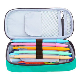 school stationery for kids Australia - Multifunction Canvas Pen Curtain Box Kawaii Large Capacity Pencil Case & Bags School for Boy Girl Kids Gift Stationery Supplies