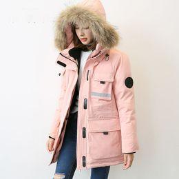 $enCountryForm.capitalKeyWord Australia - New 2019 autumn winter safari style down coat outerwear women large real raccoon fur collar hooded water proof big pockets