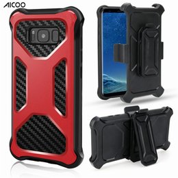 Discount rugged belt clip - AICOO Armor Rugged Hybrid Shockproof Phone Case with Belt Clip Durable Kickstand Case for iPhone XS Max Samsung S9 Plus