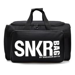 Nova SNKR Designer Duffle Bag 19ss Mens Designer Womens Sacos Preto Branco Grande Capacidade de Viagem Saco de Ginásio Sacos