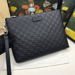 Square Leather Clutch Bag Australia - Big size best letter clutch bag with box women brand Genuine Leather square wallet leather purse women Money wallet size 30-23-4 473881