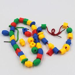 $enCountryForm.capitalKeyWord Australia - Building Block Bricks Toys Early Education Building Small Bead Geometry Threading Puzzle Fight Beaded Educational Toys