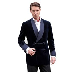Velvet Classic Jacket Australia - Latest Coat Pant Designs Velvet Suit Men Shawl Lapel Classic Smoking Men Suit Jacket For Formal Dinner Party Slim Fit Blazer New