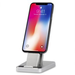 Wholesale Cell Phone Stand iPhone Charging Stand Dock Aluminum iPhone Desk Charger Dock Station Holder for iPhone X plus plus SE s and S