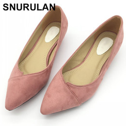 $enCountryForm.capitalKeyWord NZ - Dress Snurulan Sexy Pointed Toe Women's Low Heels Pumps Spring Autumn Flock Plain Slip On Spike Heel Pumps Shoes For Woman Ladies E642