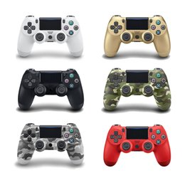 Wireless Console Controller Australia - New Bluetooth 4.0 Controller For PS4 PS4 Pro Slim Gamepad For 4 Joystick Wireless Console PS3 Dualshock