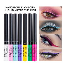 Matte Eyeliner Pens Australia - HANDAIYAN New Liquid Matte Eyeliner Make Up Waterproof Easywear Colorful Eye Liner Pen Professional Festival Eyeliner Maquiagem