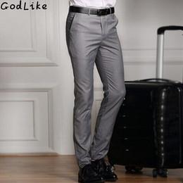 $enCountryForm.capitalKeyWord Australia - 2019 Spring And Summer Male Casual Dress Pants Slim Skinny Men Suit Pants Commercial Western-style Business Herren Hose Y190418