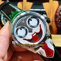 Unique Analog Watches Australia - Upgraded version Konstantin Chaykin Joker Unique creativity Green Inner Joker Dial NH35A Automatic Mens Watches Silver Case Leather Strap