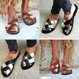 $enCountryForm.capitalKeyWord Australia - Fashion New Women Casual Patchwork Slippers Comfortable Cross Strap Flip Flops New Women Winter Slippers