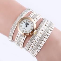 Ladies Bronze Wrist Watches Australia - Luxurious Diamond Brilliant Bracelet Watch Lady Quartz Watch Fashion Leather Women Casual Wrist HOT SALE