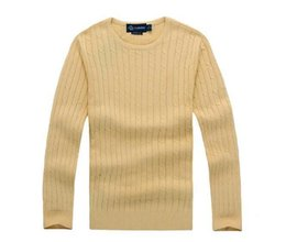 $enCountryForm.capitalKeyWord UK - Free shipping new high quality polo brand men's Hoodies twist sweater knit cotton sweater jumper pullover sweater men polo sweaters Coat