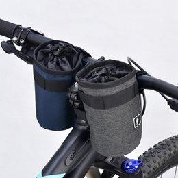 Bolsa de botella de agua del manillar de la bicicleta tubo delantero de la  bicicleta Portavasos Bolsa de tejido de poliéster 300D con 3 pegatinas  mágicas ... 609eac5f086
