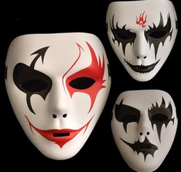 Discount celebrity party decorations - Cool Party Masks Hip-Hop Hand-Painted Masks Festival Celebrations Masquerade Dances Clown Masks Cosplay Halloween Party
