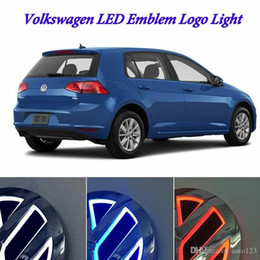 volkswagen vw golf Canada - Auto Illuminated 5D LED Car Tail Logo Light Badge Emblem Lamps For Volkswagen VW GOLF Bora CC MAGOTAN Tiguan Scirocco 4D