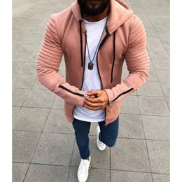 british army clothing Australia - Mens Designer Sweatshirts Solid Color Tops for Boys Zipper Clothes with Cap New British Style 2020 Fashion Autumn 4 Styles Size S-5XL