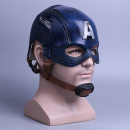 Adult Captain America Mask UK - Cosplay Captain America Mask Avengers Infinity War Mask Halloween Helmet Latex Mask Cosplay Costume