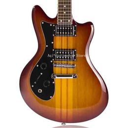 China Rosewood Guitar UK - Free shipping China guitars Shop 24 frets Amber Mahogany Whole body Rosewood Fingerboard 6 string Left hand Electric Guitar