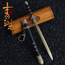 Toy Swords Wholesale NZ - East Charm for costume doll reborn girls BJD Metal carving sword limited edition gift high quality toys