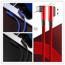 Phone Types Australia - Micro USB Cable 2A Fast Charger USB Cord 90 degree elbow Type C usb c cable Type-c Nylon Braided Data Cable For Samsung Android Phones 1M 2M
