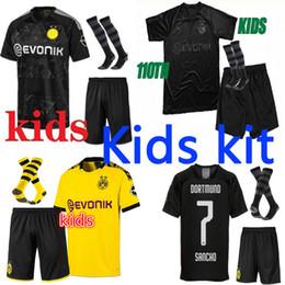 Toptan satış 2019 BVB Borussia futbol forması 110. yıl dönümü TEHLİKESİ 19 20 futbol Gömlek SANCHO REUS Hummels DELANEY çocuklar kiti üniforma Dortmund çocuklar