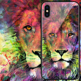 Lion King Case Cover Australia - King of beasts Lion Tempered glass Case Tiger Cover Fashion Design leopard For Samsung s10 s10e note9 s9 plus iPhone XR XS X XSMAX Cases