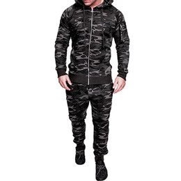 Body Fitness Suit Australia - CALOFE 2019 Spring Sport Clothing Men Running Jogging Suits Gym Fitness Body Building Sportwear Hoodies Pants Gym Tracksuit Z40