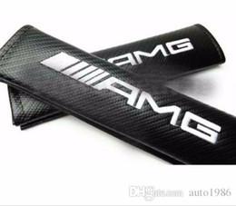 Venta al por mayor de Hombreras cinturón Cojines carro auto 2pcs / SET del asiento de coche de AMG de alimentación de fibra de carbono del vehículo Gran Calidad