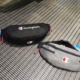 Art Canvas Prints Australia - Fashion Brand Logo Printed Waist Bag INS Tide Brand Men Waistpacks Outdoor Bag High Capacity Jogging Gym Sport Bags