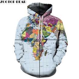 Discount cloth maps Coordinate Map Men Loose Sweatshirts Hoodie 3D Print Couple Pullover Unisex Hoodies Streetwear Coat Spring Cloth