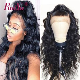Human Hair for black women online shopping - Body Wave Lace Frontal Wig Indian Remy Human Hair Wigs With Baby Hair For Black Women Pre Plucked Lace Wigs Full End