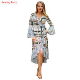 Discount false clothing - Keating Berus2019 Spring Stripe Mesh Long-sleeved False-collared Dress Fashion Casual Fashion Upper Class Women's C