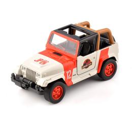 White Toy Jeep Australia - Cheap Kids Toys 1 32 Alloy Diecast Jeep Wrangler Jurassic Park 1 32 Scale Orange white Diecast Car Model Toys Children Gift J190525