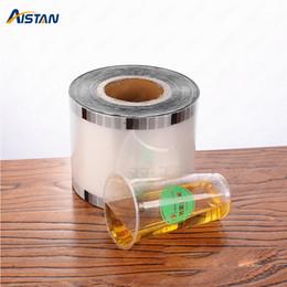 F9095 Cup selador filme para bolha boba xícara de chá selagem selador selador claro pp tipo 3000 xícaras / rolo 90mm, 95mm em Promoção